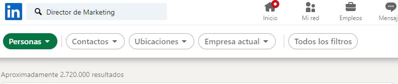 Cómo filtrar para encontrar clientes en Linkedin