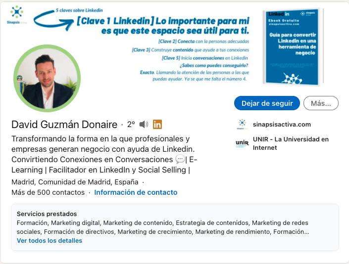 El Diseño de tu perfil de Linkedin